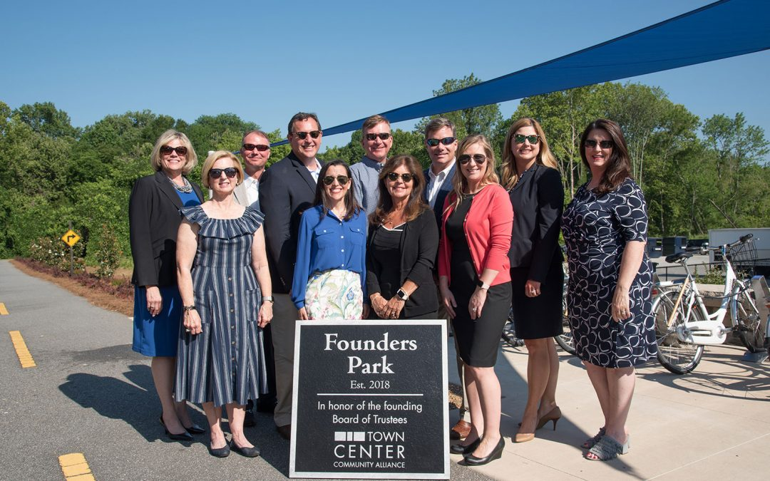 Town Center Community Alliance Dedicates Founders Park